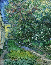 The Garden of the Asylum at Saint-Remy, May 1889 by Vincent van Gogh | Painting Reproduction