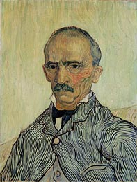 Portrait of Superintendant Trabuc in St. Paul's Hospital, 1889 by Vincent van Gogh | Painting Reproduction