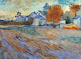 View of the Church of Saint-Paul-de-Mausole, 1889 von Vincent van Gogh | Gemälde-Reproduktion
