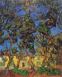 Trees in the Garden of Saint-Paul Hospital, 1889 by Vincent van Gogh | Painting Reproduction