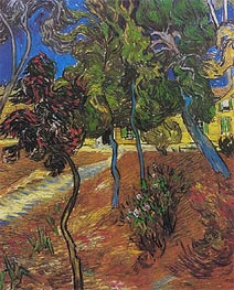 Garden of St. Paul's Hospital, 1889 by Vincent van Gogh | Painting Reproduction