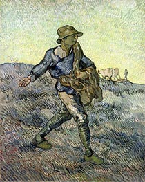 The Sower (after Millet), 1889 by Vincent van Gogh | Painting Reproduction
