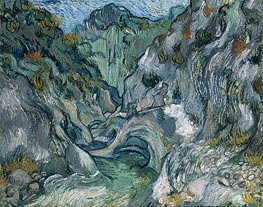 Les Peiroulets Ravine, 1889 by Vincent van Gogh | Painting Reproduction