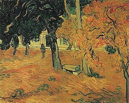 The Garden of Saint-Paul Hospital, 1889 by Vincent van Gogh | Painting Reproduction