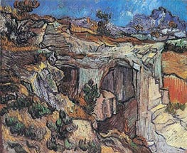 Entrance to a Quarry near Saint-Remy, 1889 by Vincent van Gogh | Painting Reproduction