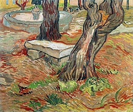 The Stone Bench in Garden of Saint-Paul Hospital | Vincent van Gogh | Gemälde Reproduktion