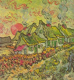 Cottages - Reminiscence of the North | Vincent van Gogh | Gemälde Reproduktion