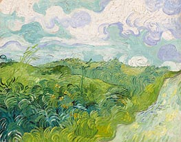 Green Wheat Fields, May 1890 von Vincent van Gogh | Gemälde-Reproduktion