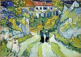 Village Street and Stairs with Figures | Vincent van Gogh | Painting Reproduction