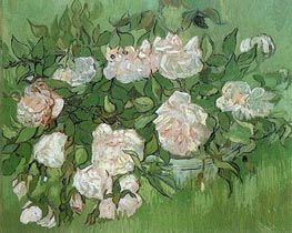 Still Life - Pink Roses | Vincent van Gogh | Painting Reproduction