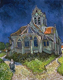 The Church at Auvers-sur-Oise | Vincent van Gogh | Gemälde Reproduktion