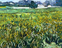 Wheat Field at Auvers with White House | Vincent van Gogh | veraltet