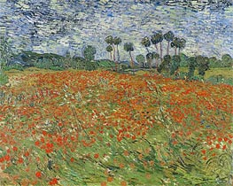 Field with Poppies | Vincent van Gogh | Painting Reproduction