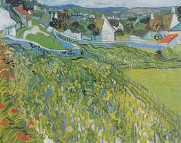 Vineyards with a View of Auvers | Vincent van Gogh | Painting Reproduction