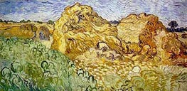 Field with Wheat Stacks | Vincent van Gogh | Gemälde Reproduktion