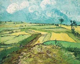 Wheat Fields at Auvers Under Clouded Sky | Vincent van Gogh | Gemälde Reproduktion