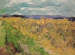 Wheat Field with Cornflowers, July 1890 by Vincent van Gogh | Painting Reproduction