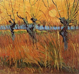 Willows at Sunset, 1888 von Vincent van Gogh | Gemälde-Reproduktion