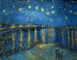 Starry Night over the Rhone, 1888 von Vincent van Gogh | Gemälde-Reproduktion