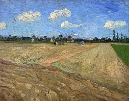 The Plowed Field, 1888 von Vincent van Gogh | Gemälde-Reproduktion