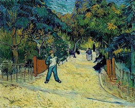 Entrance to the Public Garden in Arles, 1888 von Vincent van Gogh | Gemälde-Reproduktion