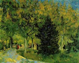 A Lane in the Public Garden at Arles, September von Vincent van Gogh | Gemälde-Reproduktion