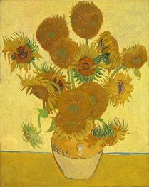 Still Life: Vase with Fourteen Sunflowers, 1888 von Vincent van Gogh | Gemälde-Reproduktion