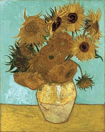 Still Life - Vase with Twelve Sunflowers, 1888 von Vincent van Gogh | Gemälde-Reproduktion