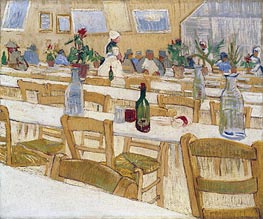 Interior of the Restaurant Carrel in Arles, 1887 von Vincent van Gogh | Gemälde-Reproduktion