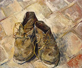 A Pair of Shoes, 1888 von Vincent van Gogh | Gemälde-Reproduktion