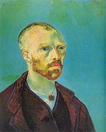 Self-Portrait (Dedicated to Paul Gauguin), September von Vincent van Gogh | Gemälde-Reproduktion