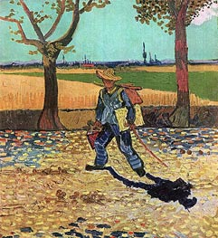 The Painter on His Way to Work, July 1888 von Vincent van Gogh | Gemälde-Reproduktion