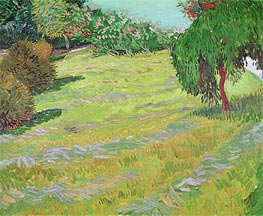 Sunny Lawn in a Public Park, 1888 by Vincent van Gogh | Painting Reproduction