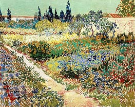 Flowering Garden with Path, 1888 by Vincent van Gogh | Painting Reproduction