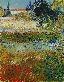 Flowering Garden, 1888 by Vincent van Gogh | Painting Reproduction