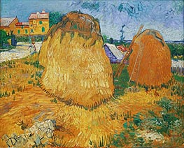 Haystacks in Provence, 1888 by Vincent van Gogh | Painting Reproduction