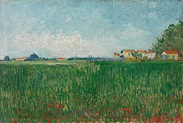 Farmhouses in a Wheat Field Near Arles | Vincent van Gogh | Gemälde Reproduktion
