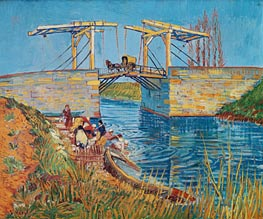 The Langlois Bridge at Arles with Women Washing | Vincent van Gogh | Gemälde Reproduktion