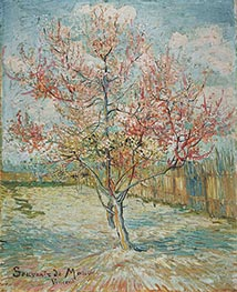 Pink Peach Tree in Blossom (Reminiscence of Mauve), 1888 by Vincent van Gogh | Painting Reproduction
