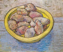 Still Life: Potatoes in a Yellow Dish | Vincent van Gogh | Gemälde Reproduktion