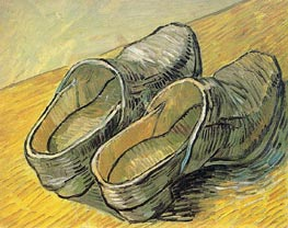 A Pair of Leather Clogs, 1889 by Vincent van Gogh | Painting Reproduction