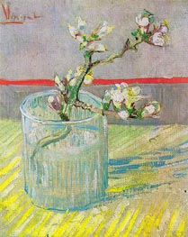 Blossoming Almond Branch in a Glass, 1888 by Vincent van Gogh | Painting Reproduction