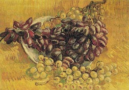 Still Life with Grapes, 1887 by Vincent van Gogh | Painting Reproduction