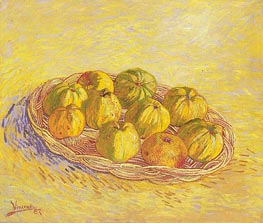 Still Life with Basket of Apples, 1887 by Vincent van Gogh | Painting Reproduction