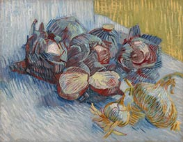 Still Life with Red Cabbages and Onions, 1887 von Vincent van Gogh | Gemälde-Reproduktion