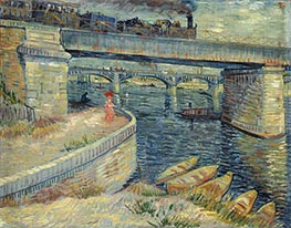 Bridges Across the Seine at Asnieres, Summer 188 by Vincent van Gogh | Painting Reproduction