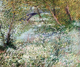 Banks of the Seine with Pont de Clichy in Spring, June 1887 by Vincent van Gogh | Painting Reproduction