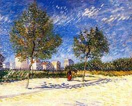 The Outskirts of Paris, Summer 188 by Vincent van Gogh | Painting Reproduction