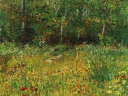 Park at Asnieres in Spring, Spring 188 by Vincent van Gogh | Painting Reproduction
