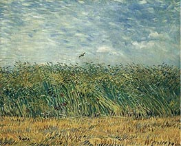 Wheat Field with a Lark, 1887 by Vincent van Gogh | Painting Reproduction